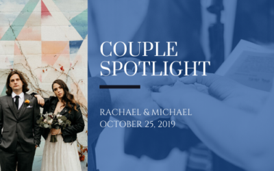 """Couple Spotlight: The """"theatrical, intimate, and edgy"""" wedding of Rachael and Michael"""